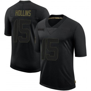 Youth Nike Minnesota Vikings Alexander Hollins Black 2020 Salute To Service Jersey - Limited