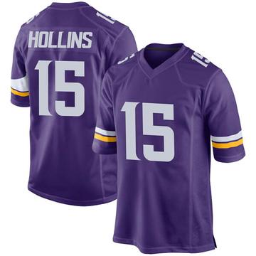 Youth Nike Minnesota Vikings Alexander Hollins Purple Team Color Jersey - Game