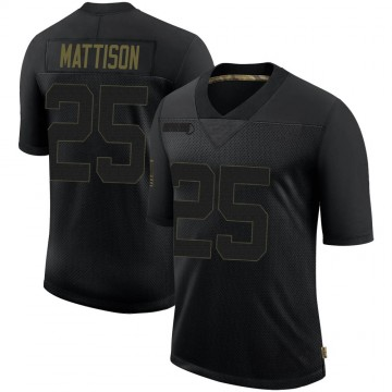 Youth Nike Minnesota Vikings Alexander Mattison Black 2020 Salute To Service Jersey - Limited