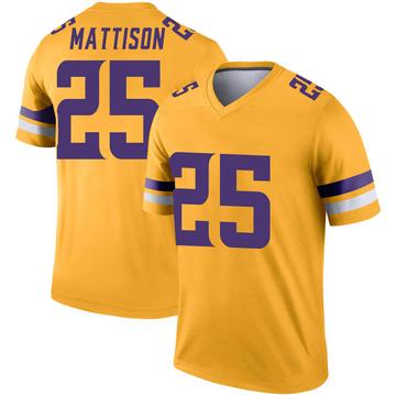 Youth Nike Minnesota Vikings Alexander Mattison Gold Inverted Jersey - Legend