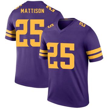 Youth Nike Minnesota Vikings Alexander Mattison Purple Color Rush Jersey - Legend