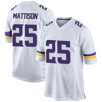 Youth Nike Minnesota Vikings Alexander Mattison White Jersey - Game