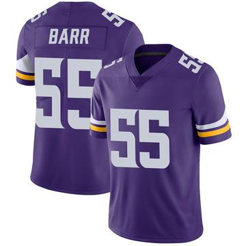 Youth Nike Minnesota Vikings Anthony Barr Purple 100th Vapor Jersey - Limited