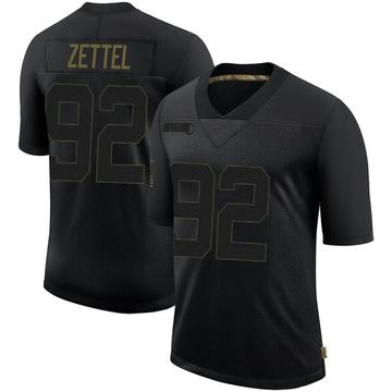 Youth Nike Minnesota Vikings Anthony Zettel Black 2020 Salute To Service Jersey - Limited