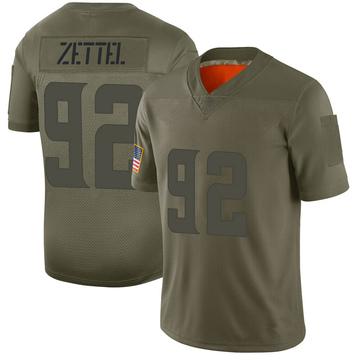 Youth Nike Minnesota Vikings Anthony Zettel Camo 2019 Salute to Service Jersey - Limited