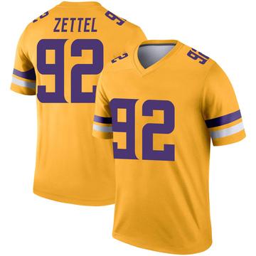 Youth Nike Minnesota Vikings Anthony Zettel Gold Inverted Jersey - Legend