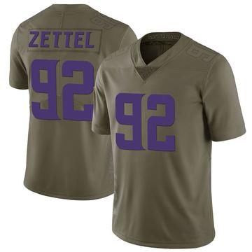 Youth Nike Minnesota Vikings Anthony Zettel Green 2017 Salute to Service Jersey - Limited