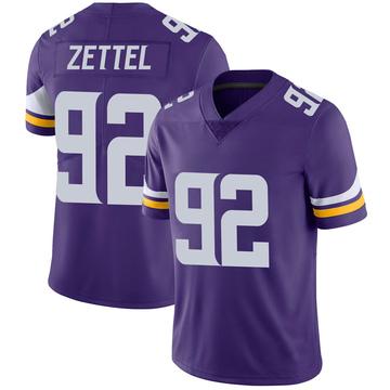 Youth Nike Minnesota Vikings Anthony Zettel Purple 100th Vapor Jersey - Limited