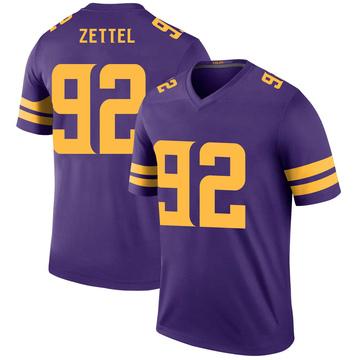 Youth Nike Minnesota Vikings Anthony Zettel Purple Color Rush Jersey - Legend