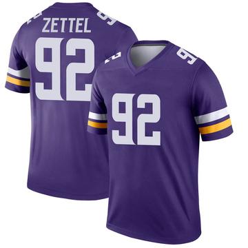 Youth Nike Minnesota Vikings Anthony Zettel Purple Jersey - Legend