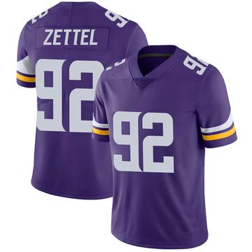 Youth Nike Minnesota Vikings Anthony Zettel Purple Team Color Vapor Untouchable Jersey - Limited