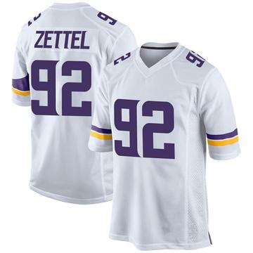 Youth Nike Minnesota Vikings Anthony Zettel White Jersey - Game