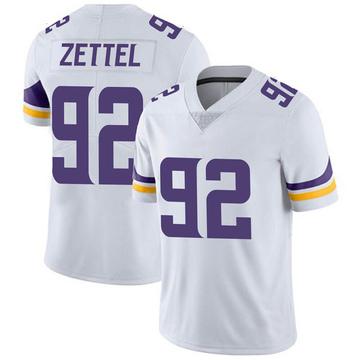 Youth Nike Minnesota Vikings Anthony Zettel White Vapor Untouchable Jersey - Limited