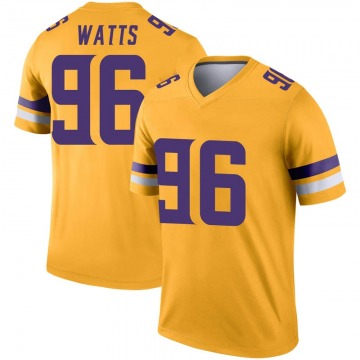 Youth Nike Minnesota Vikings Armon Watts Gold Inverted Jersey - Legend