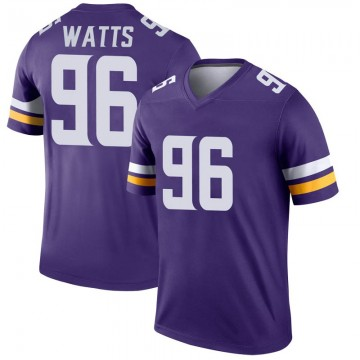 Youth Nike Minnesota Vikings Armon Watts Purple Jersey - Legend