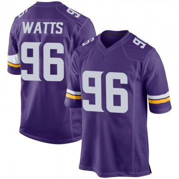 Youth Nike Minnesota Vikings Armon Watts Purple Team Color Jersey - Game