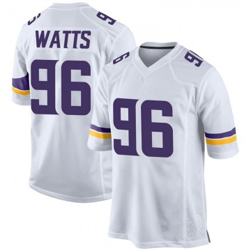 Youth Nike Minnesota Vikings Armon Watts White Jersey - Game