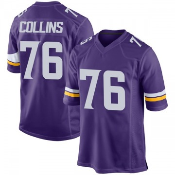 Youth Nike Minnesota Vikings Aviante Collins Purple Team Color Jersey - Game