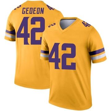 Youth Nike Minnesota Vikings Ben Gedeon Gold Inverted Jersey - Legend