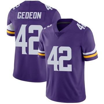 Youth Nike Minnesota Vikings Ben Gedeon Purple Team Color Vapor Untouchable Jersey - Limited