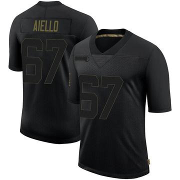 Youth Nike Minnesota Vikings Brady Aiello Black 2020 Salute To Service Jersey - Limited