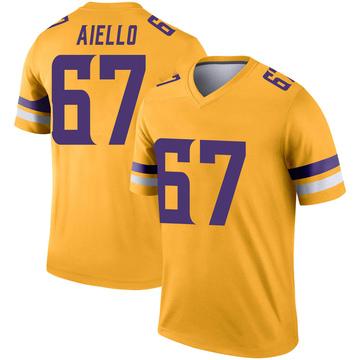 Youth Nike Minnesota Vikings Brady Aiello Gold Inverted Jersey - Legend