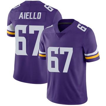 Youth Nike Minnesota Vikings Brady Aiello Purple 100th Vapor Jersey - Limited