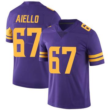 Youth Nike Minnesota Vikings Brady Aiello Purple Color Rush Jersey - Limited