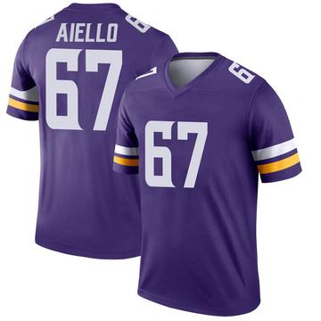 Youth Nike Minnesota Vikings Brady Aiello Purple Jersey - Legend