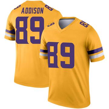 Youth Nike Minnesota Vikings Bralon Addison Gold Inverted Jersey - Legend