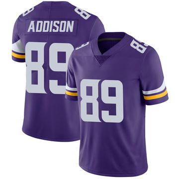 Youth Nike Minnesota Vikings Bralon Addison Purple 100th Vapor Jersey - Limited