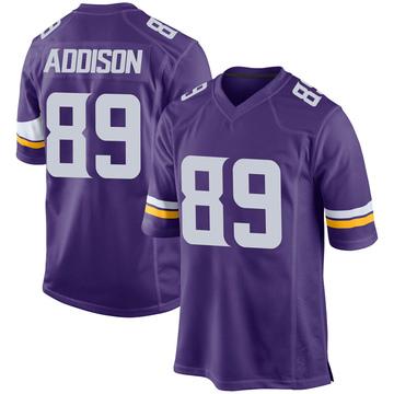 Youth Nike Minnesota Vikings Bralon Addison Purple Team Color Jersey - Game
