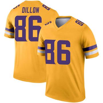 Youth Nike Minnesota Vikings Brandon Dillon Gold Inverted Jersey - Legend