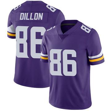 Youth Nike Minnesota Vikings Brandon Dillon Purple 100th Vapor Jersey - Limited