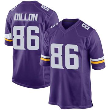 Youth Nike Minnesota Vikings Brandon Dillon Purple Team Color Jersey - Game