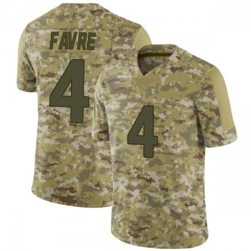 Youth Nike Minnesota Vikings Brett Favre Camo 2018 Salute to Service Jersey - Limited