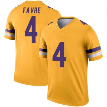 Youth Nike Minnesota Vikings Brett Favre Gold Inverted Jersey - Legend