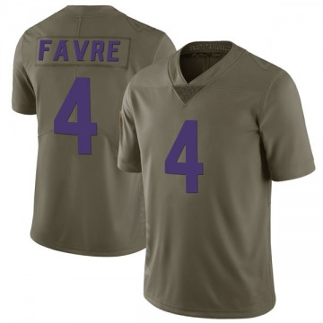 Youth Nike Minnesota Vikings Brett Favre Green 2017 Salute to Service Jersey - Limited