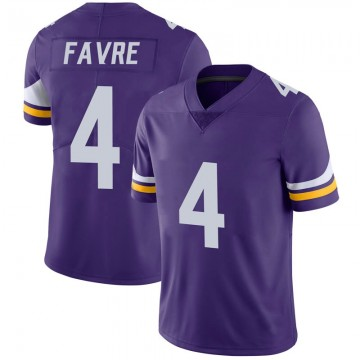 Youth Nike Minnesota Vikings Brett Favre Purple 100th Vapor Jersey - Limited