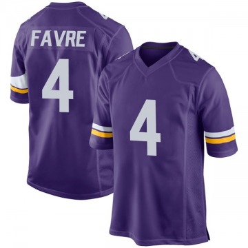 Youth Nike Minnesota Vikings Brett Favre Purple Team Color Jersey - Game