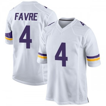 Youth Nike Minnesota Vikings Brett Favre White Jersey - Game
