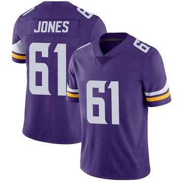 Youth Nike Minnesota Vikings Brett Jones Purple 100th Vapor Jersey - Limited