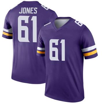 Youth Nike Minnesota Vikings Brett Jones Purple Jersey - Legend