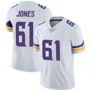 Youth Nike Minnesota Vikings Brett Jones White Vapor Untouchable Jersey - Limited