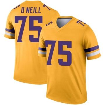 Youth Nike Minnesota Vikings Brian O'Neill Gold Inverted Jersey - Legend