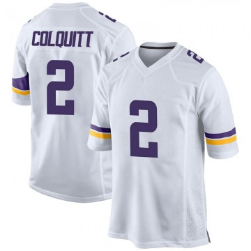 Youth Nike Minnesota Vikings Britton Colquitt White Jersey - Game