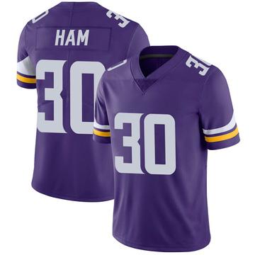Youth Nike Minnesota Vikings C.J. Ham Purple 100th Vapor Jersey - Limited