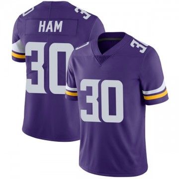 Youth Nike Minnesota Vikings C.J. Ham Purple Team Color Vapor Untouchable Jersey - Limited