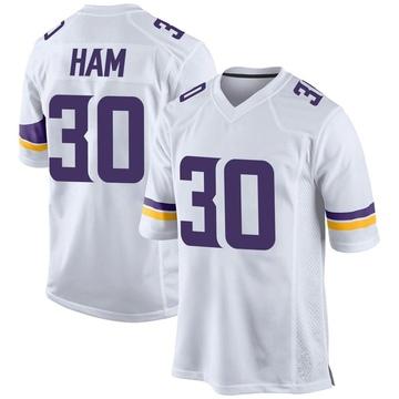 Youth Nike Minnesota Vikings C.J. Ham White Jersey - Game