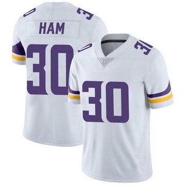 Youth Nike Minnesota Vikings C.J. Ham White Vapor Untouchable Jersey - Limited